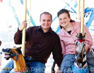 Kemah Boardwalk engagement session